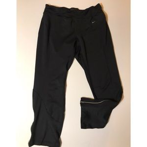 Black Nike fit dry athletic pants w ankle zip